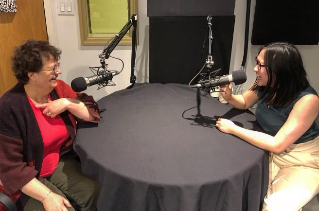 Paula Simons and Linda Hoang